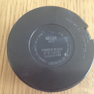 blush Melba MAC dos