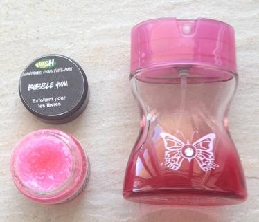 gommage lèvres Lush Bubble Gum, parfum Love de Morgane