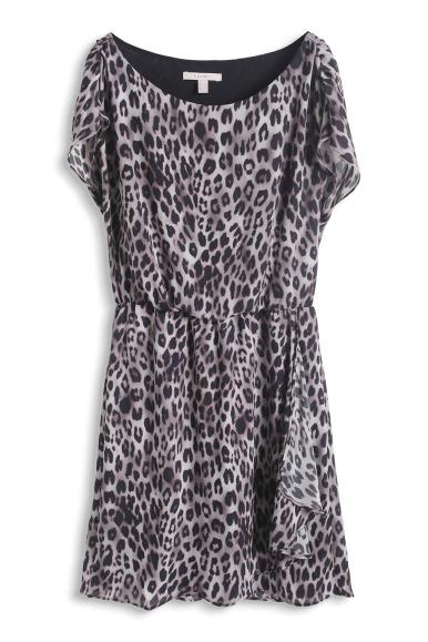 robe en mousseline léopard