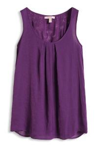 top soyeux en dentelle crochetée purple