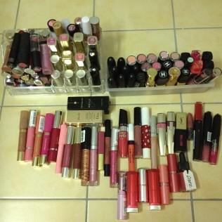 mes rouges à lèvres et gloss en 2013