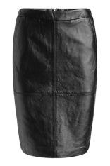 jupe crayon en cuir noir