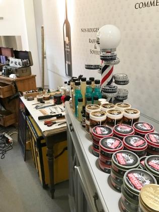 Le Coeur de presse était associé à un atelier de barbiers :)